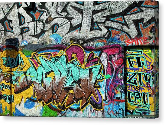 U2 Canvas Print - Artistic Graffiti On The U2 Wall by Panoramic Images