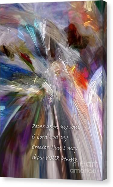 Artist's Prayer Canvas Print