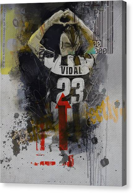 Real Madrid Canvas Print - Arturo Vidal - B by Corporate Art Task Force