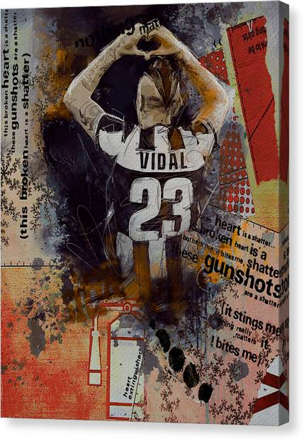Real Madrid Canvas Print - Arturo Vidal - C by Corporate Art Task Force
