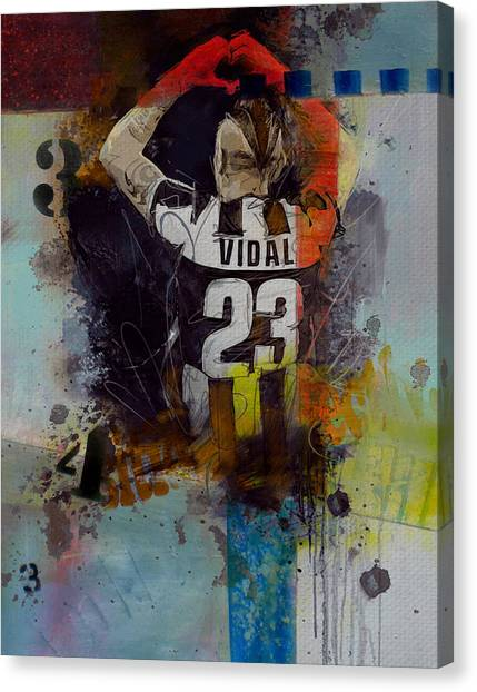 Real Madrid Canvas Print - Arturo Vidal - D by Corporate Art Task Force