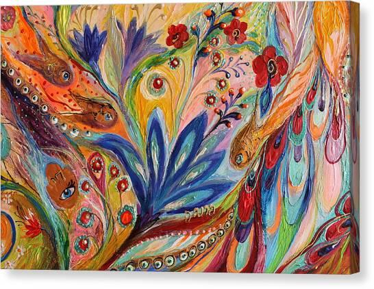 Jewish Painter Canvas Print - Artwork Fragment 94 by Elena Kotliarker