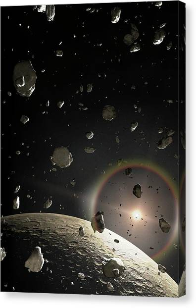 Sun Belt Canvas Print - Artwork Of A Kuiper Belt Object by Mark Garlick