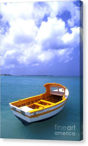 Vibrant Canvas Print - Aruba. Fishing Boat by Anonymous