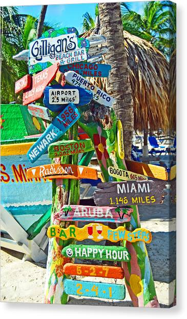 Aruba Fun Signs Canvas Print