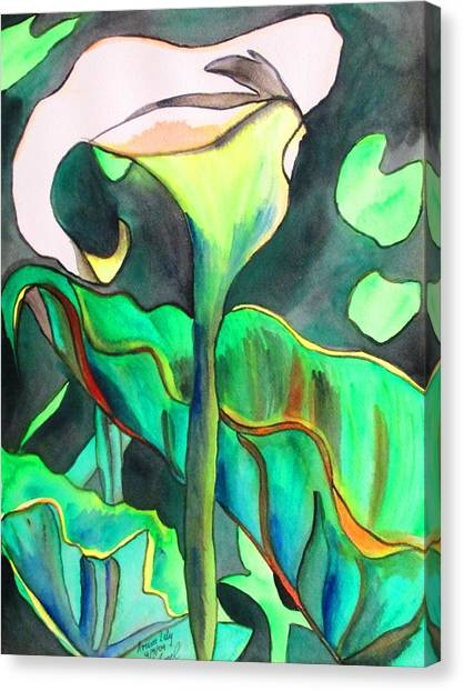 Arum Lily Canvas Print by Sacha Grossel
