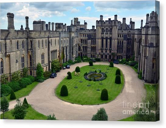 Arundel Castle Courtyard Canvas Print