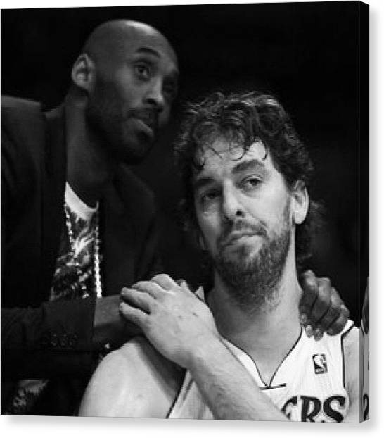 La Lakers Canvas Print - As Awful As This #nba Season Was And Or by Wes Boese