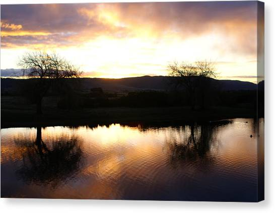 As Day Meets Dusk Canvas Print by Judy Powell
