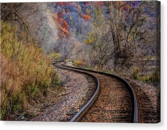 As I Walk The Tracks I Think Canvas Print