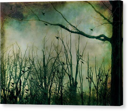 Woodland Canvas Print - As Night Apaproaches  by Gothicrow Images