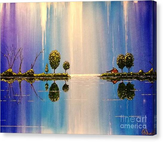 As The Moonlight Dripped Canvas Print