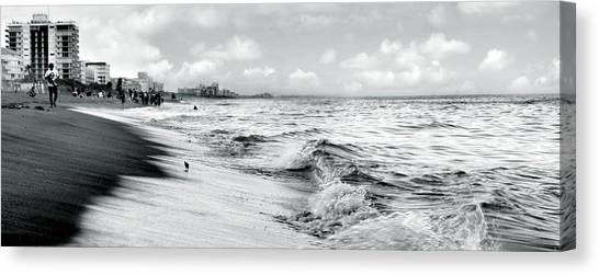 As The Tide Rolls In Canvas Print by Cher Ferroggiaro