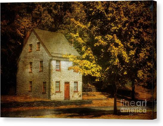 House Canvas Print - As The World Passes By by Lois Bryan
