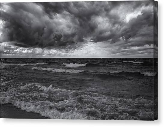 As The World Turns Mono Canvas Print