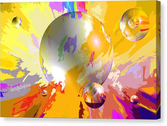 As The World Turns With Peace Canvas Print