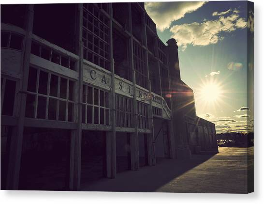 Asbury Park Nj Casino Vintage Canvas Print