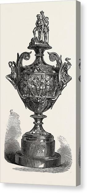 Fashion Plate Canvas Print - Ascot Race Plate The Ascot Cup by English School