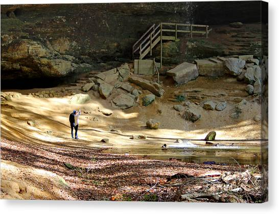 Ash Cave In Hocking Hills Canvas Print