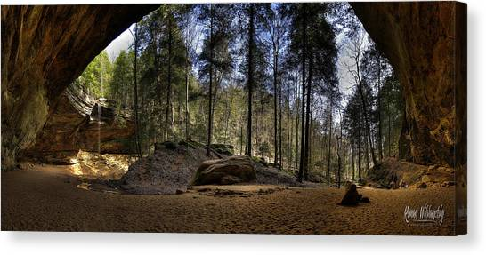 Ash Cave Pano - Spring 2014 Canvas Print
