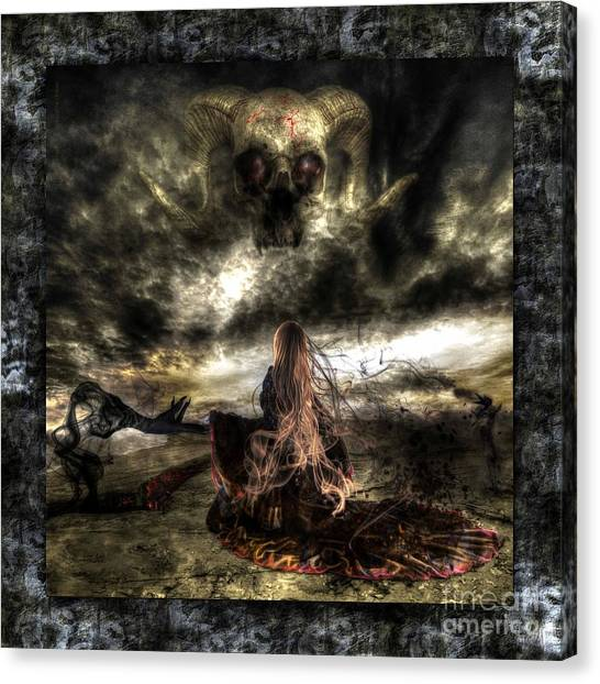 Ashes To Ashes Canvas Print by Betta Artusi