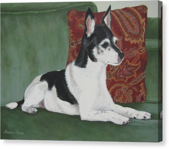 Canvas Print - Ashley On Her Sofa by Sandra Chase