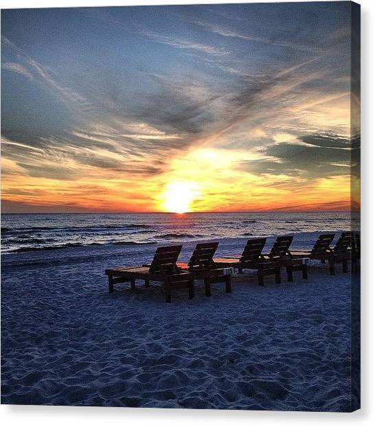 White Sand Canvas Print - An End Or A Beginning  by Rosie Lackey