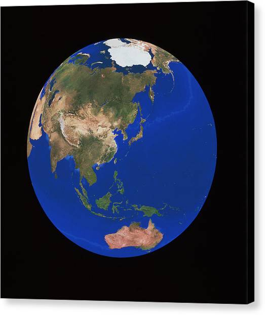Gobi Canvas Print - Asia And Australasia by Copyright 1995, Worldsat International And J. Knighton/science Photo Library