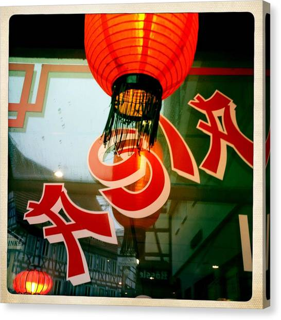 Red Canvas Print - Asia by Matthias Hauser