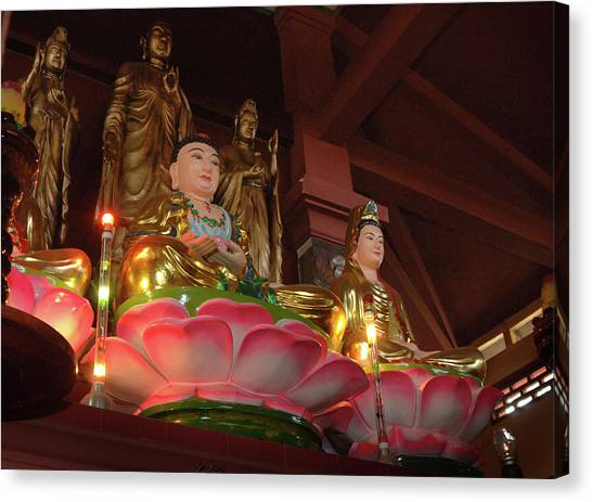 Mountain Caves Canvas Print - Asia, Vietnam Buddha Sitting On Lotus by Kevin Oke