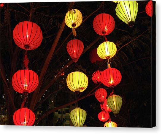 Chinese New Year Canvas Print - Asia, Vietnam Lanterns During Chinese by Kevin Oke