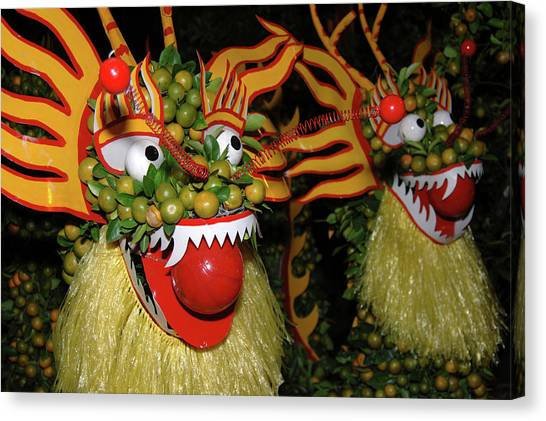 Chinese New Year Canvas Print - Asia, Vietnam Nagas Made With Oranges by Kevin Oke