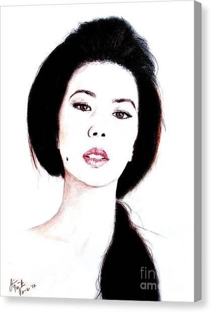 Lucy Liu Canvas Print - Asian Beauty II by Jim Fitzpatrick