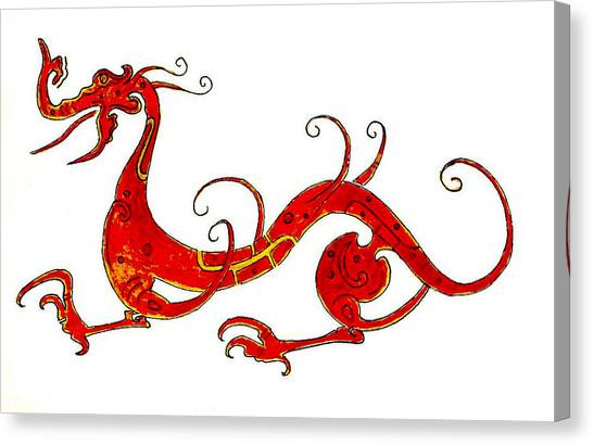 Dragons Canvas Print - Asian Dragon by Michael Vigliotti