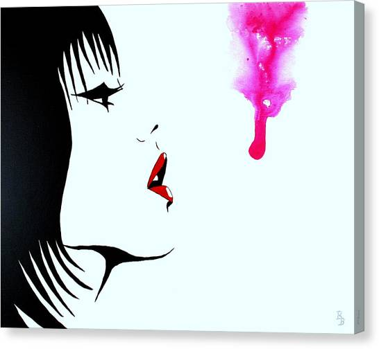 Asian Female Drip Art Canvas Print