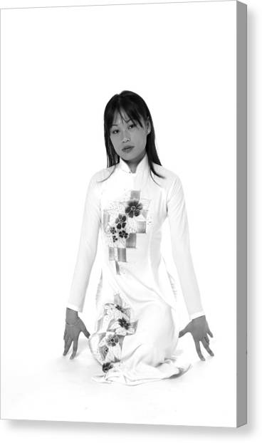 Asian Girl Canvas Print
