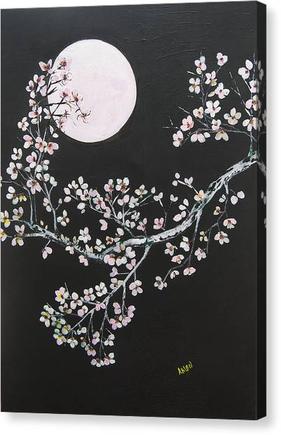 Asian Moon Canvas Print
