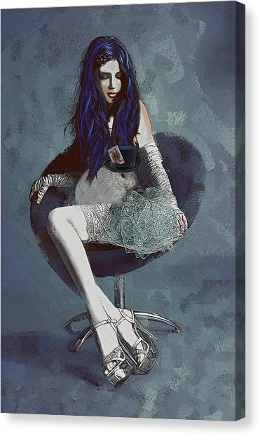Ask Alice Canvas Print
