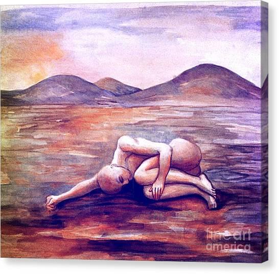 Asleep On The Plain  Canvas Print
