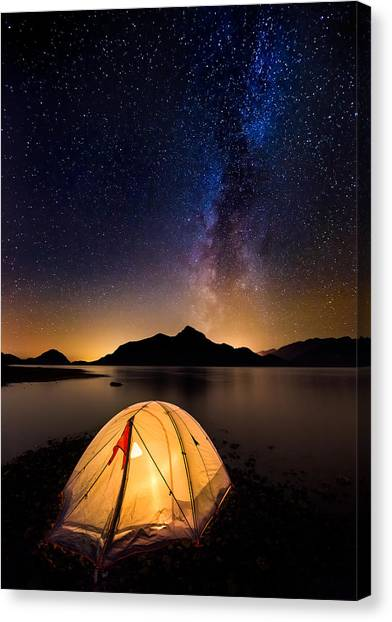 Asleep Under The Milky Way Canvas Print