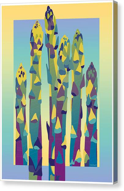 Asparagus Gradient Canvas Print