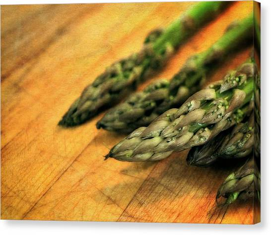 Asparagus Tips Canvas Print