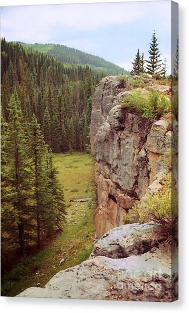 Aspen Cliff Canvas Print
