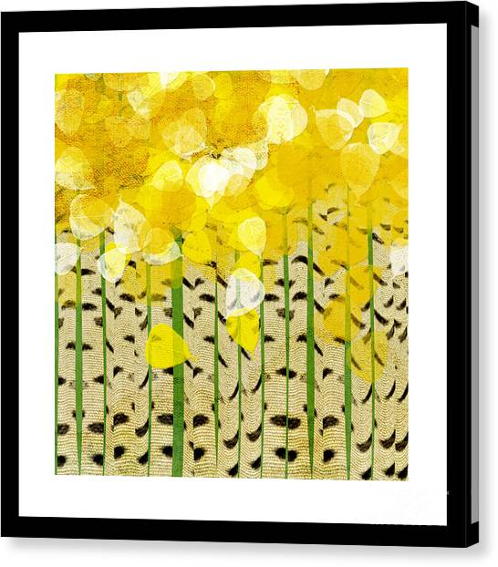 Aspen Colorado Abstract Square Canvas Print