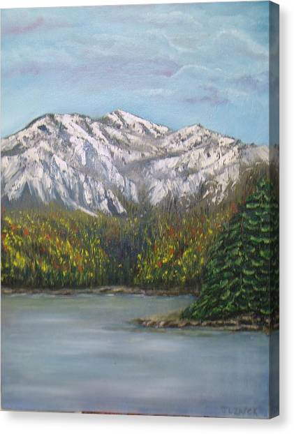 Aspen Lake Canvas Print