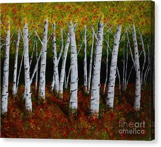 Aspens In Fall 2 Canvas Print