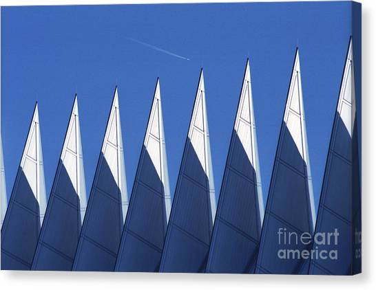aSPIREing Air Force Academy Chapel with Jet Canvas Print