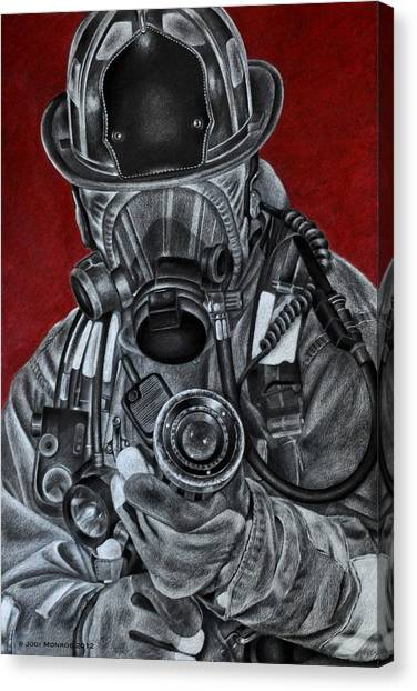 Firefighters Canvas Print - Assault by Jodi Monroe