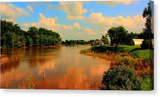 Assiniboine River Hdr Canvas Print