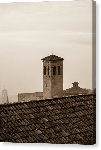 Assisi Rooftop In Morning Canvas Print by Rande Cady